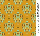 seamless pattern based on... | Shutterstock .eps vector #1079638100