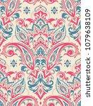 seamless pattern based on... | Shutterstock .eps vector #1079638109
