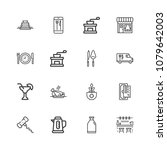 thin line icons set of... | Shutterstock .eps vector #1079642003