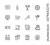 thin line icons set of... | Shutterstock .eps vector #1079642270