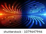 fingerprint scanning... | Shutterstock .eps vector #1079647946