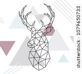 Geometric Reindeer Illustratio...