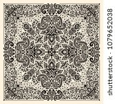 vector ornament paisley bandana ...   Shutterstock .eps vector #1079652038