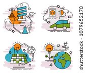 set of outline icons of...   Shutterstock .eps vector #1079652170