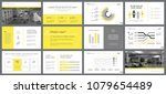 yellow and gray infographic... | Shutterstock .eps vector #1079654489