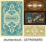 set of 4 vinage label. western...   Shutterstock .eps vector #1079656850