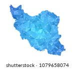 iran map   abstract geometric... | Shutterstock .eps vector #1079658074