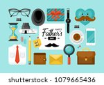 fathers day concept with... | Shutterstock .eps vector #1079665436