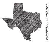 scribble map of texas. sketch... | Shutterstock .eps vector #1079667596
