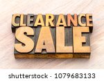 clearance sale word abstract in ... | Shutterstock . vector #1079683133