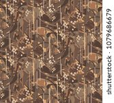camouflage marbled strokes... | Shutterstock .eps vector #1079686679