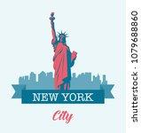 statue of liberty. world... | Shutterstock .eps vector #1079688860