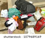 pile of useless clothes and... | Shutterstock . vector #1079689169