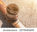 water pipe clogged.very old... | Shutterstock . vector #1079690690