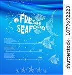 restaurant banner. fresh... | Shutterstock .eps vector #1079692223