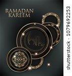 ramadan kareem elegant greeting ... | Shutterstock .eps vector #1079692253