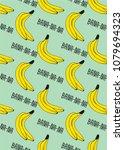 cute banana fruit pattern for... | Shutterstock .eps vector #1079694323