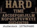 font alphabet script typeface... | Shutterstock .eps vector #1079694680
