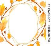 geometric designs watercolor.... | Shutterstock . vector #1079696573
