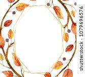 geometric designs watercolor.... | Shutterstock . vector #1079696576