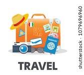 vector illustration of orange... | Shutterstock .eps vector #1079696960