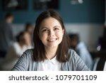 headshot portrait of smiling... | Shutterstock . vector #1079701109