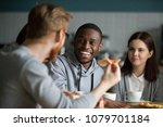 happy millennial african... | Shutterstock . vector #1079701184