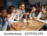 redhead guy discussing... | Shutterstock . vector #1079701199