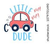 little cool dude slogan and... | Shutterstock .eps vector #1079701490