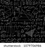 scientific math vector seamless ... | Shutterstock .eps vector #1079706986