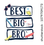 best big bro slogan and patches ... | Shutterstock .eps vector #1079709173