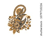 vector persian paisley isolated ... | Shutterstock .eps vector #1079710226