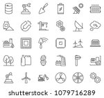 thin line icon set   factory... | Shutterstock .eps vector #1079716289