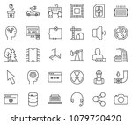 thin line icon set   keyboard... | Shutterstock .eps vector #1079720420
