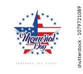 happy memorial day. remember... | Shutterstock .eps vector #1079721089