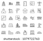 thin line icon set  ... | Shutterstock .eps vector #1079722763