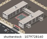 low poly isometric prison... | Shutterstock .eps vector #1079728160