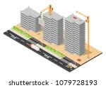 isometric low poly of... | Shutterstock .eps vector #1079728193