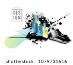 colorful panorama city. vector...   Shutterstock .eps vector #1079731616