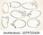 big set  beautiful collection...   Shutterstock .eps vector #1079731634