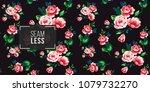 vintage pink flowers bouquet... | Shutterstock .eps vector #1079732270