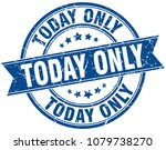 today only round grunge ribbon...   Shutterstock .eps vector #1079738270