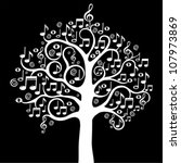 Tree From Musical Notes.vector...