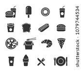 vector image set of fast food... | Shutterstock .eps vector #1079744534