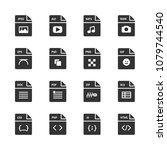 vector image set file format... | Shutterstock .eps vector #1079744540