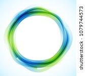 geometric frame from circles ...   Shutterstock .eps vector #1079744573