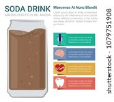 soda drink infographic. demerit ... | Shutterstock .eps vector #1079751908