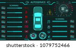 car service. diagnostic stand... | Shutterstock .eps vector #1079752466