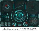 computer management. diagnostic ... | Shutterstock .eps vector #1079752469