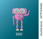 vector funny cartoon purple... | Shutterstock .eps vector #1079764460
